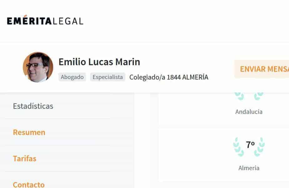 Emilio Lucas – Uno de los mejores abogados de Almería -Ranking Emeritas Legal