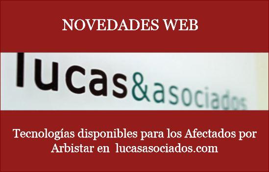 Novedades en la web de Lucas Asociados para web afectados de Arbistar