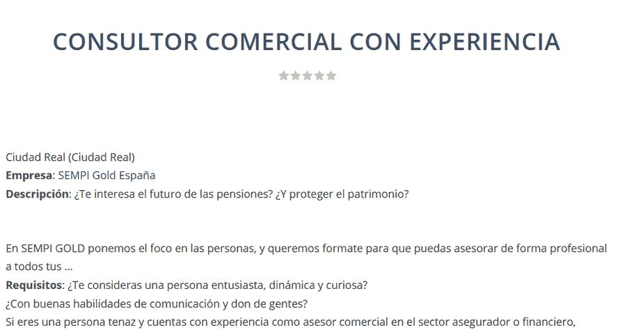 Afectados SEMPI – La empresa utiliza portales de Empleo Público para captar estafadores
